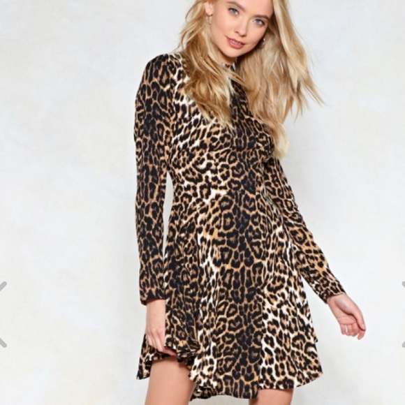 Nasty Gal Dresses & Skirts - Nasty Gal Feline Yourself Leopard Dress